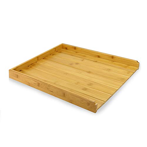 Escurridor de bambú | Escurridor de platos de madera | Escurreplatos| Organizador de cubiertos de una pieza | Accesorios de cocina | Herramientas de limpieza | M&W