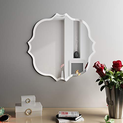 KOHROS Square Edge Beveled Frameless Bathroom Mirror - 24
