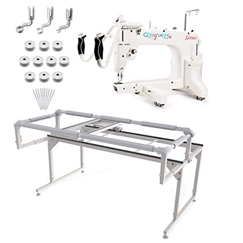 Grace Q'nique 15R Midarm Quilting Machine with Q-Zone Hoop Frame Plus Bonus Bundle