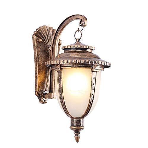 WZHZJ Lámpara de Pared al Aire Libre a Prueba de Agua Retro, Pasillo al Aire Libre, Patio, escaleras, terraza, balcón, lámpara, lámpara de Pasillo Creativa (Color : B)
