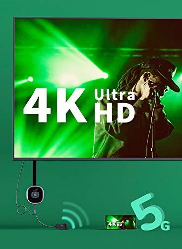 Yehua 4K Miracast HDMI Dongle,5G/2.4G WiFi Display Dongle Streaming Videoempfänger, Unterstützung Miracast DLNA Airplay für iPhone / iPad / iOS / Android / Mac OS auf HDTV / Monitor / Projektor