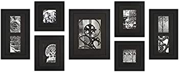 7-Pack Gallery Perfect Black Wood Photo Frame Set