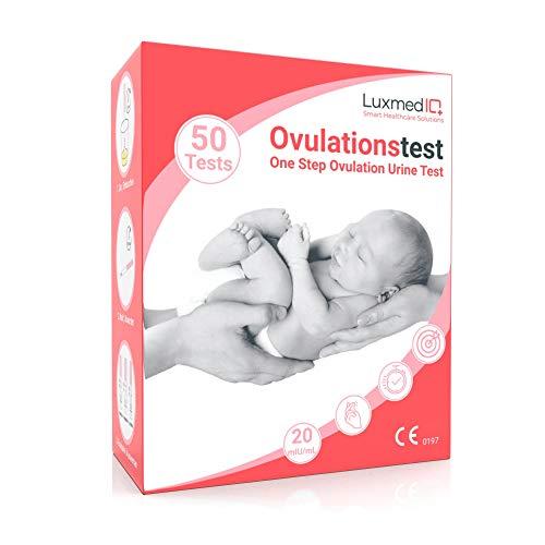 50 x LuxmedIQ Ovulationstest 20 mIU/mL - Fruchtbarkeitstest für Frauen mit Kinderwunsch - LH Urin Teststreifen - Einfach Schwanger werden
