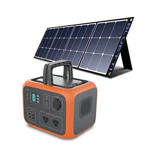 BLUETTI Portable Power Station with Solar Panel included AC50S 500Wh Solar Generator 120V AC Outlet Lithium Battery Backup for Camping Trip RV Home Emergency(Include 1Pcs 120W Foldable Solar Panel)