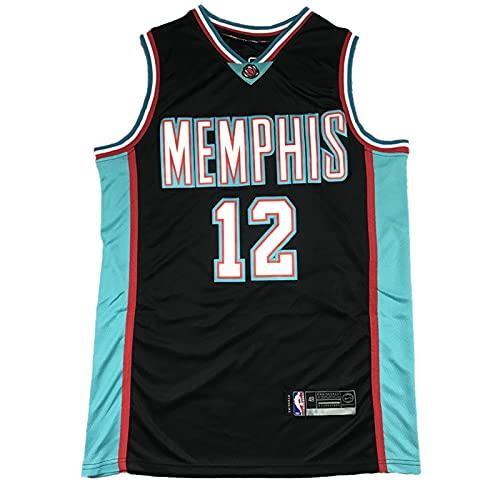 KKSY Camiseta de Hombre Memphis Grizzlies 12# Morant Jerseys Camiseta de Baloncesto Transpirable,F,S