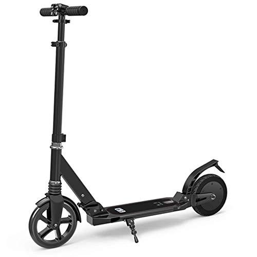 JJZXD Con Sistema Plegable de liberación rápida - Dual Sistema de suspensión + Vespa Correa for el Hombro Ruedas Grandes Scooters for Adultos y Adolescentes
