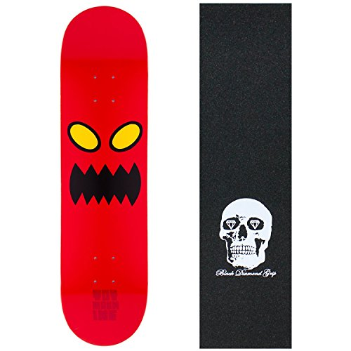 "Alien Workshop Toy Machine Skateboard Deck Monster FACE 8.0"" Skull Grip"