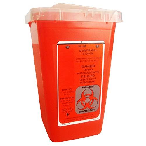 Biohazard Container Mini Be super welcome 1 Direct stock discount Quart Case per Red 5