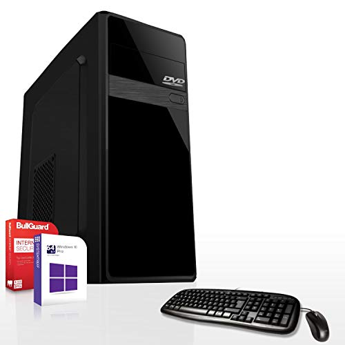 Gaming PC Set/Multimedia Computer inkl. Windows 10 Pro 64-Bit! - AMD Quad-Core A8-9600 4 x 3,4 GHz - AMD Radeon R7-8GB DDR4 RAM - 1000GB HDD - 24-Fach DVD Brenner - Tastatur + Maus