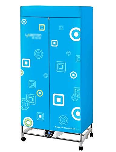 Carl Artbay Secador de Alta Potencia, Secadora de Ropa, Máquina Plegable Casera del Guardarropa Caliente 2 Layers1300W con Teledirigido,Deshumidificador (Color : Azul)