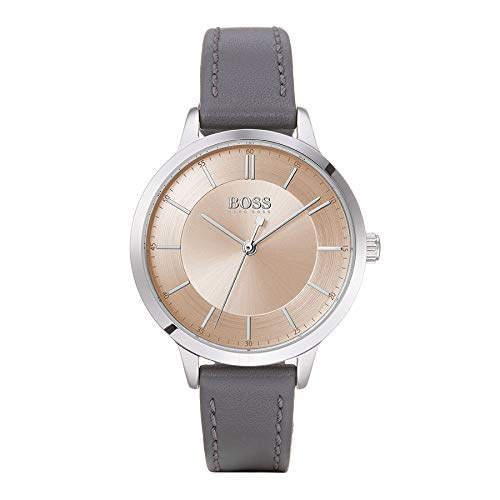 Hugo Boss Dames Analoog Quartz Horloge met Leather-Calfskin Band 1502510