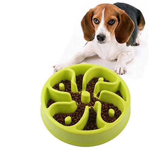 Langsam Feeder Hundenapf Hundenäpfe nach unten Essen aufblasen Stop-Hundenapf Dog Puzzle Feeder Non Skid Bowl Welpenfutter Wet Bowl Dog Treat Puzzle Spielzeug rosa Verlangsamen plm46 (Color : Green)