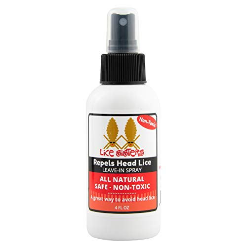 Lice Sisters Repel Lice Prevention Leave-in Spray – Proactive Treatment for Nit and Lice Free Hair, 4 oz.