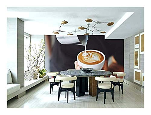 Relovsk muurschildering behang koffie eten drinken Barista behang muurschildering foto restaurant keuken poster decoratie 150cmx105cm