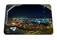 22cmx18cm マウスパッド (ドバイブルジュドバイナイトライト夏美容都市) パターンカスタムの マウスパッド