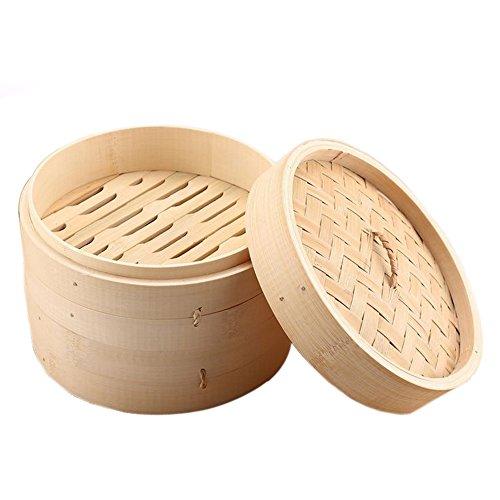 5 Zoll Kitchen Notwendigkeit Kuchen Speisen Dampfgarer Dämpfen Korb Teller Kasten Dämpfer Dämpfaufsatz Brutkasten Reis Kochen Set Moso Bambus 1pc