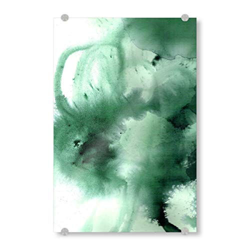 artboxONE Acrylglasbild 120x80 cm Abstrakt Yakuma Petrol Bild hinter Acrylglas - Bild aquarell tusche Pigment