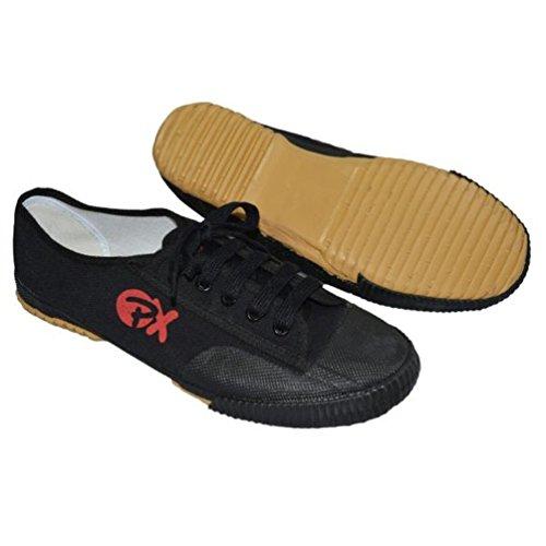S.B.J - Sportland Segeltuchschuhe/Schuhe für Kung Fu und Wu SHU schwarz, Gr. 44