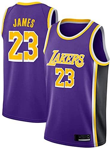 XUECHEN Ropa Camiseta de Baloncesto para Hombre - NBA Los Angeles Lakers # 23 James Jersey, Ocio Transpirable Secado rápido Chalecos sin Mangas, Púrpura, XXL (185~190cm)