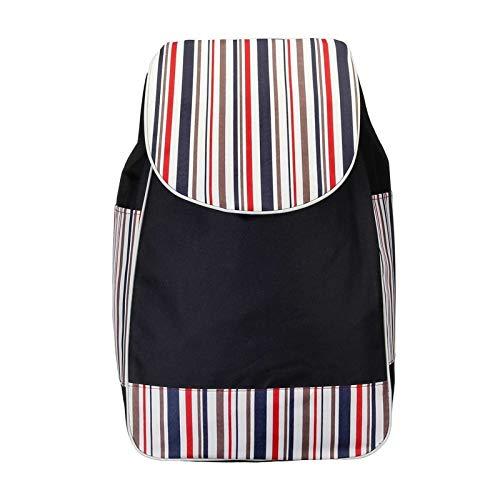 JINSUO Einkaufswagen Faltbare Einkaufen Trolley Bag Tote Warenkorb Carts Trolley Bag Warenkorb Gepäck Regenschutz Verdickte Leinwand (Farbe : Black Bag)