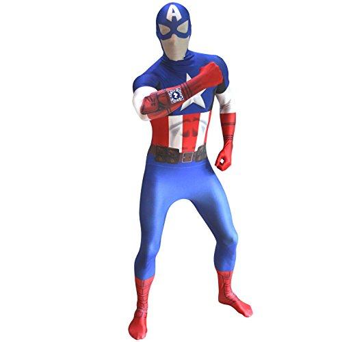 Morphsuits - Disfraz de morphsuits capitán adultos, talla L (MLZCAL) , color/modelo surtido