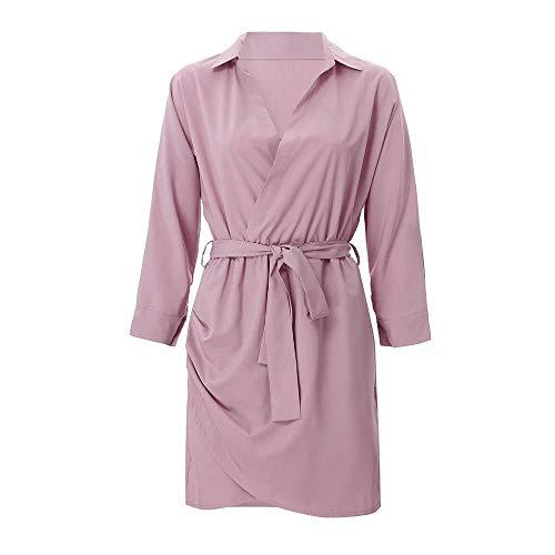 Saoye Fashion Giacca da Donna a Manica Lunga con Bottoni Manica Lunga Giovane Abiti da Festa Elegante Spolverino Giacche Cappotto 2019 Vestiti per Ragazze (Color : Z5-Rosa, Size : S)