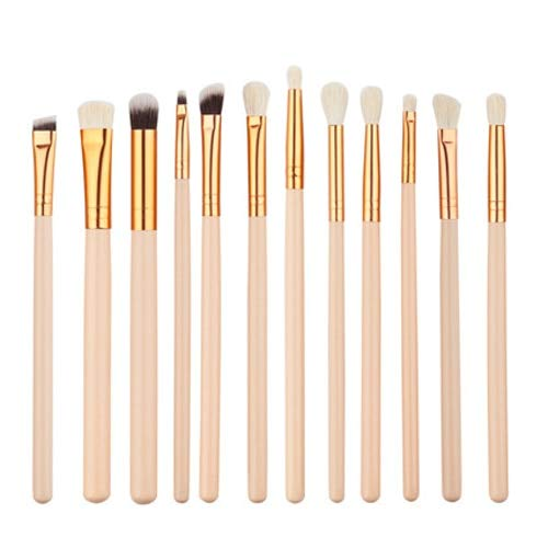 12 Pinceles de Maquillaje de Ojos Set Tool Cosmetics Set Wool Pincel Maleta de maquiagem Nose Shadow Eyeliner lip