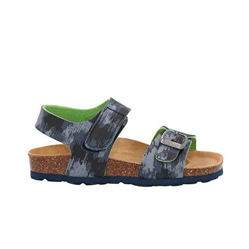 GRUNLAND SB1310 - Sandalias de Vestir para niño Azul Turquesa