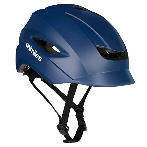 ANIMILES Fahrradhelme für Erwachsene mit leichtem, CPSC und CE-zertifiziertem Fahrradhelm für Erwachsene für städtische Pendler Einstellbare Größe für Erwachsene Männer/Frauen (Blau)