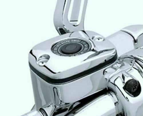 i5 Chrome Front Brake Fluid Reservoir Cap to fit Harley Davidson Sportster 883 1200 Softail Dyna Electra Glide Road King