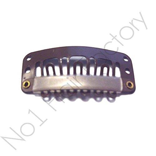 X 30 perruque extension de cheveux à clips pour extensions capillaires Marron 28 mm/2,8 cm