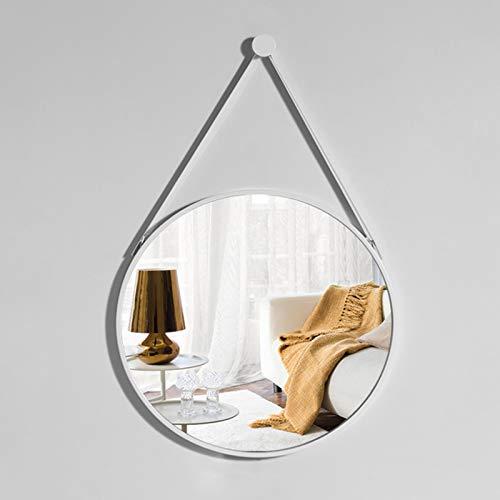 Espejo De Pared Redondo De Metal, Espejo De Baño Moderno, Espejo De Maquillaje Redondo, Con Marco De Metal, Moderno Y Elegante, (Tamaño: Diámetro 40cm50cm60cm70cm), Se Utiliza Para El Hogar, Dormitori