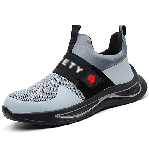 Zapatos de Trabajo Zapatillas de Seguridad de Malla de Verano Ultraligero para Hombre Tablas de Puntera de Acero para Hombre Kevlar Trabajo Interiores Trabajo Industrial Zapatos Anterior Boots Hiker