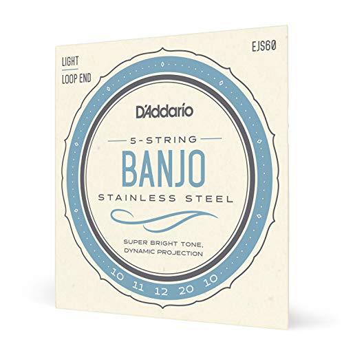 D'Addario EJS60. Cuerdas para banjo de 5 cuerdas, acero