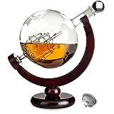 Awemoz® Whiskey Karaffe - Globus - Whisky Karaffe - Geschenke für Männer - 900 ml - Inkl. Ausgießer