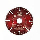 NBB Disco de corte multiusos de diamante, hoja de rescate, alta eficiencia, corte en granito, concreto reforzado, fibra de vidrio,varilla,plástico,árbol 22.23 mm,para Amoladora Angular (Dia. 115mm, 1)