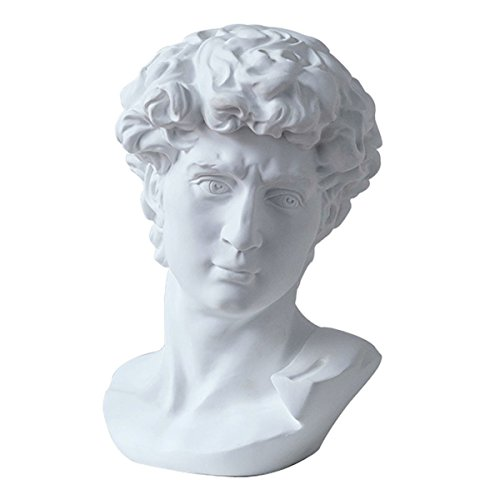 "ECYC 11.8"" Classic David Busts Statue Portrait Sculpture Resin Handicraft Home Decor"