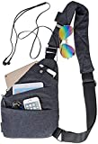 Sling Bag Backpack Chest Crossbody Bag Canvas Casual Daypacks for Outdoor Sport Travel