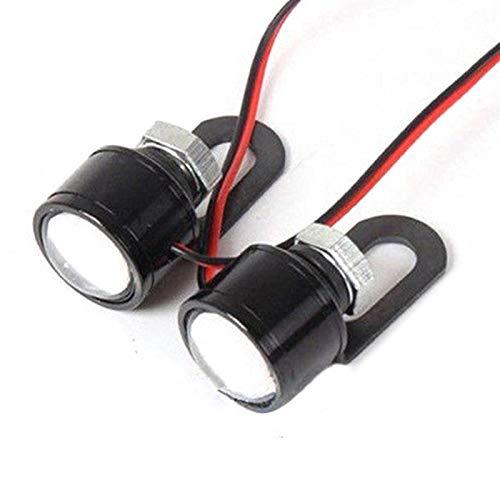 Hxfang® La motocicleta LED de la niebla de la lámpara Foglights 2PCS 12 V llevó la lámpara for los coches de la motocicleta Auxiliar del faro de luz blanca de la lámpara del proyector de conducción Ah
