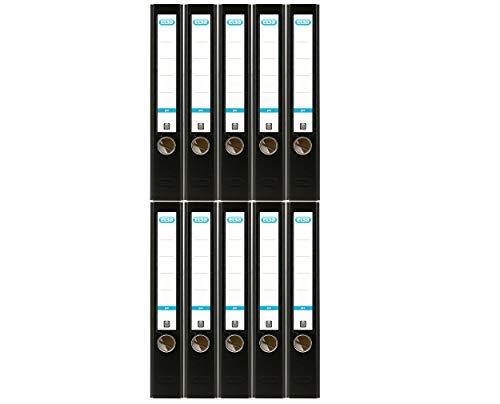 Elba Ordner A4 smart Pro, Kunststoff, 5 cm schmal, schwarz, 10er Pack
