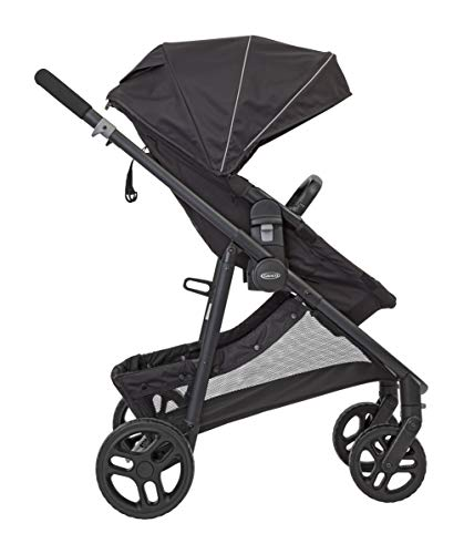 Graco Transform 2-in-1 Pushchair/Stroller (Birth to 4 Years Approx, 0-22 kg), Converts from Pramette to Pushchair, Black Graco Suitable from birth to approx. 4 years (22kg) Convertible pramette to pushchair in a flash. includes a comfy soft new-born liner for the first journey Click connect travel system compatible with graco snug ride/snug essentials i-size infant car seats 4
