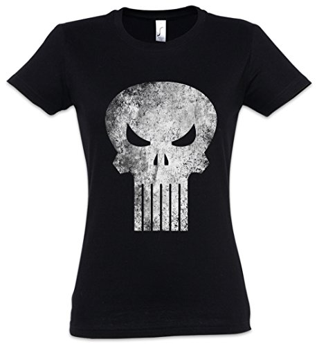 Punisher Skull Mujer Girlie Women T-Shirt - Insignia Logo Symbol Hero Comic...