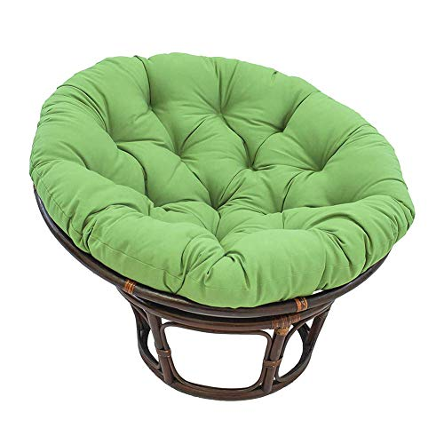 Zairmb Hanging Egg Hammock Chair Pads Round Removable Papasan Chair Cushion Swing Chair Cushion Thickened Waterproof Removable-60cm(23.6 green