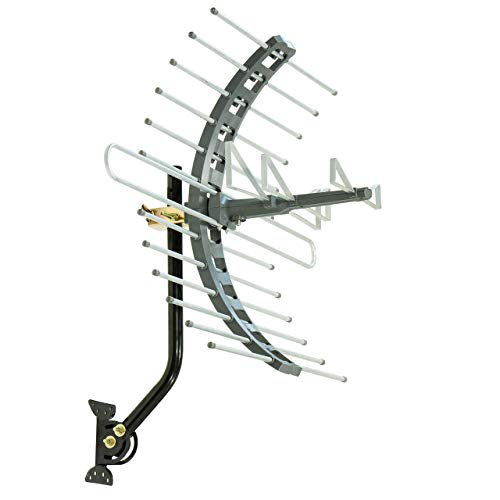 GE Pro Outdoor TV Antenna, Long Range Antenna, 4K 1080P VHF UHF Digital HDTV Antenna, J Mount...