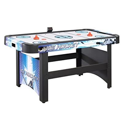 CarmelliTM Face-off 5 Foot AIR Hockey Table with Electronic Scoring