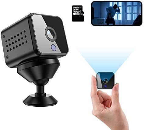 Mini Hidden Spy Camera HD 1080P Wireless WiFi Nanny Cam with Audio Live Feed Night Vision and product image