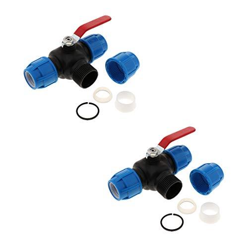 joyMerit 2 Schnellkupplungen Aus PE Mit Ventilreinigern Für Bewässerungsrohre