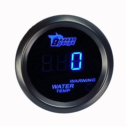 Supmico 52mm Universal Auto KFZ Blau LED Licht Anzeige Digital Wasser Temperatur Temp Instrument Messgerät