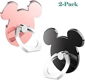 2-Pack Cartoon Phone 360 Rotation Ring Stand Holder