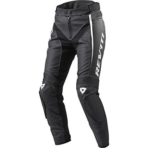REV'IT! Motorradhose Xena 2 Damen Lederhose schwarz/weiß 42, Sportler, Ganzjährig